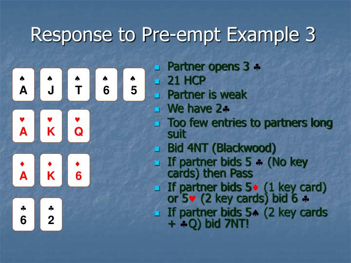 Response to Pre-empt Example 3