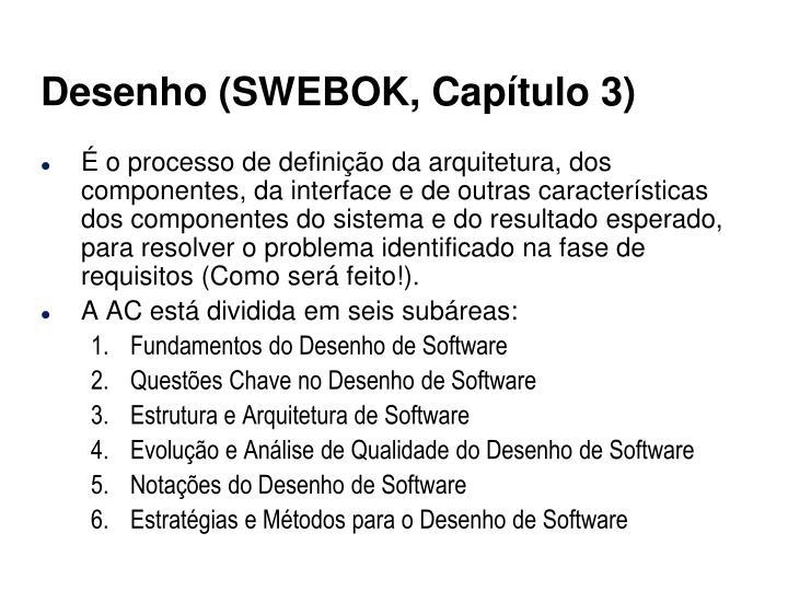 Desenho (SWEBOK, Capítulo 3)