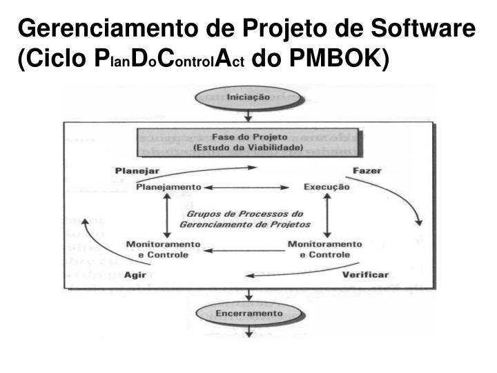 Gerenciamento de Projeto de Software (Ciclo P