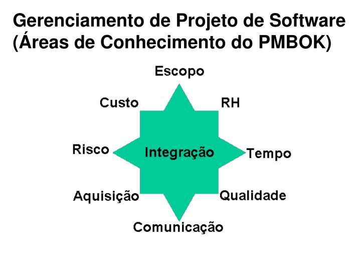 Gerenciamento de Projeto de Software (Áreas de Conhecimento do PMBOK)