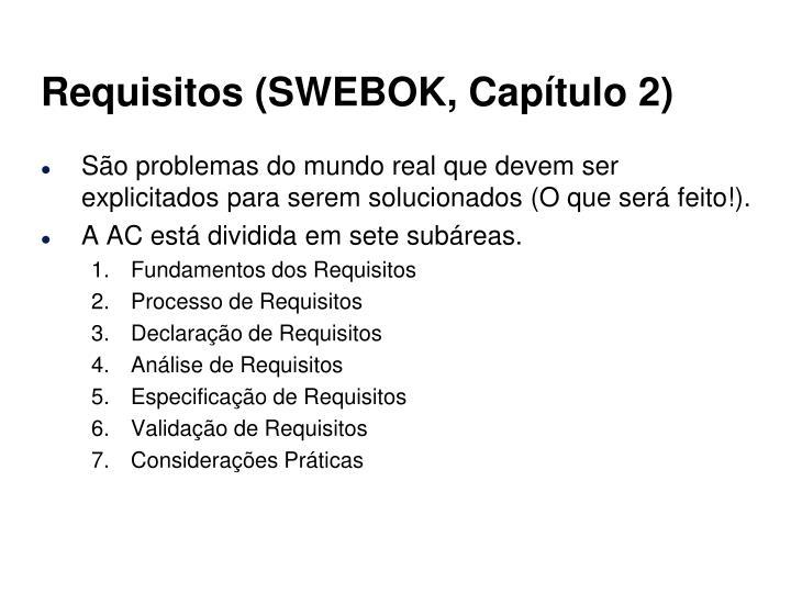 Requisitos (SWEBOK, Capítulo 2)