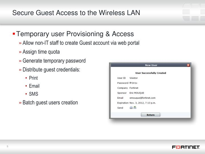 Secure Guest Access to the Wireless LAN