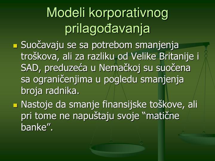 Modeli korporativnog prilagođavanja