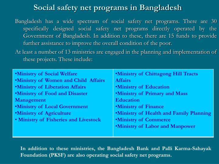 Social safety net programs in Bangladesh