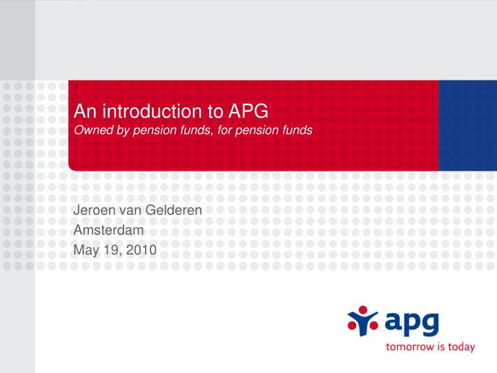 An introduction to APG
