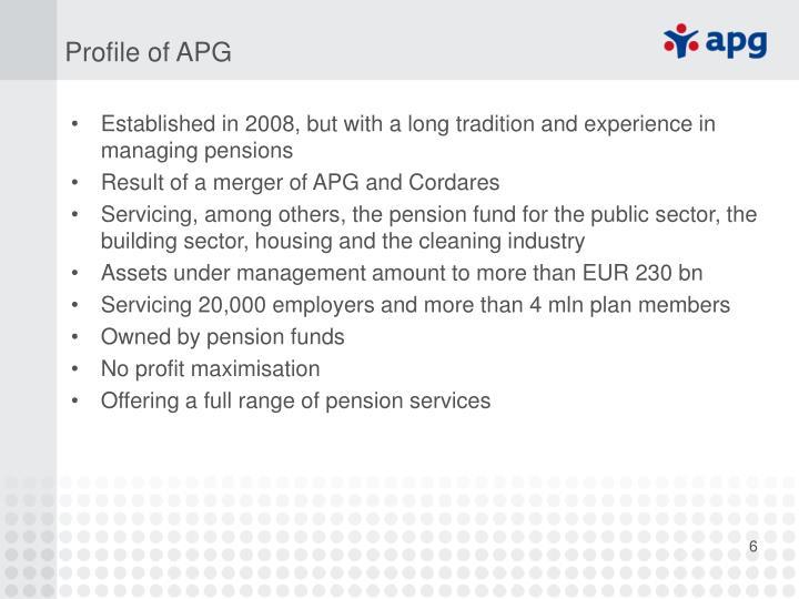 Profile of APG
