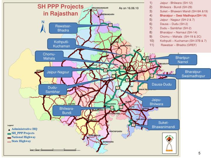 SH PPP Projects                in Rajasthan