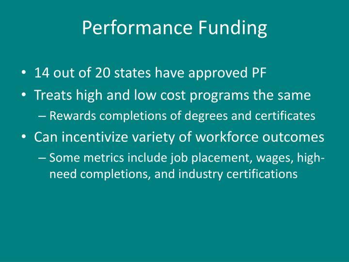 Performance Funding