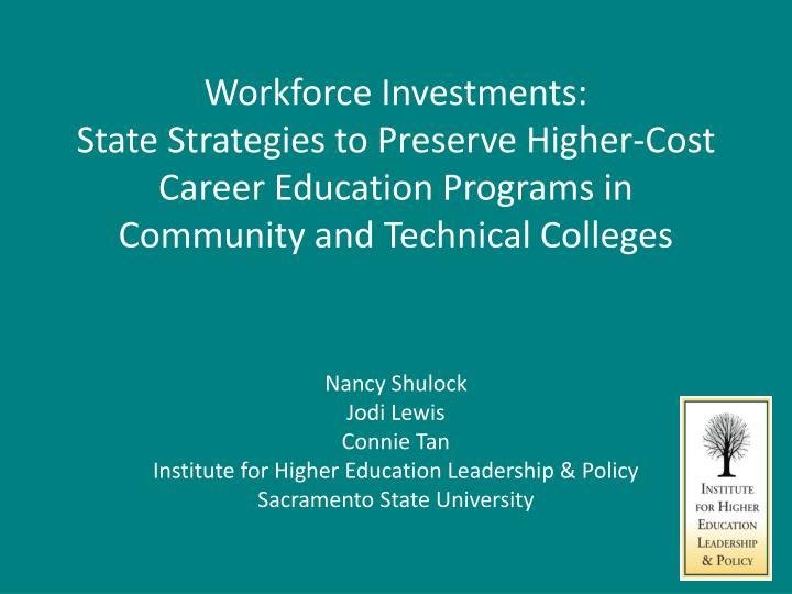 Workforce Investments:
