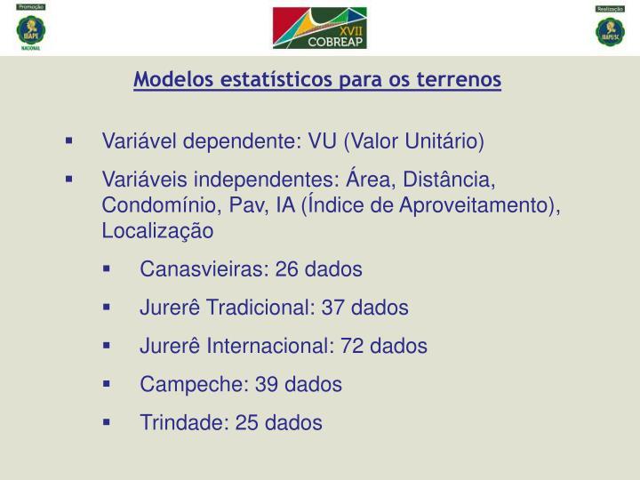 Modelos estatísticos