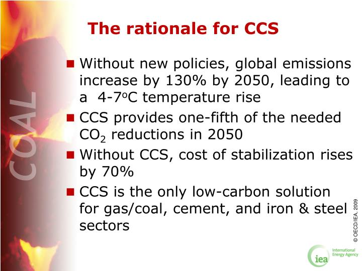 The rationale for CCS