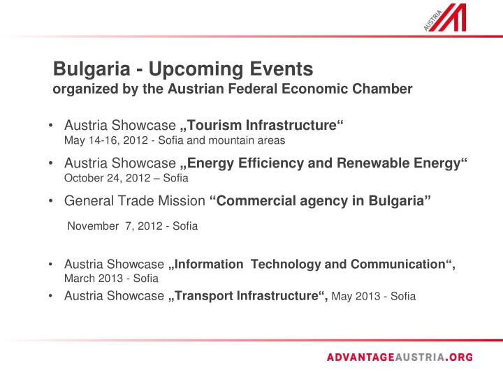 Bulgaria - Upcoming Events