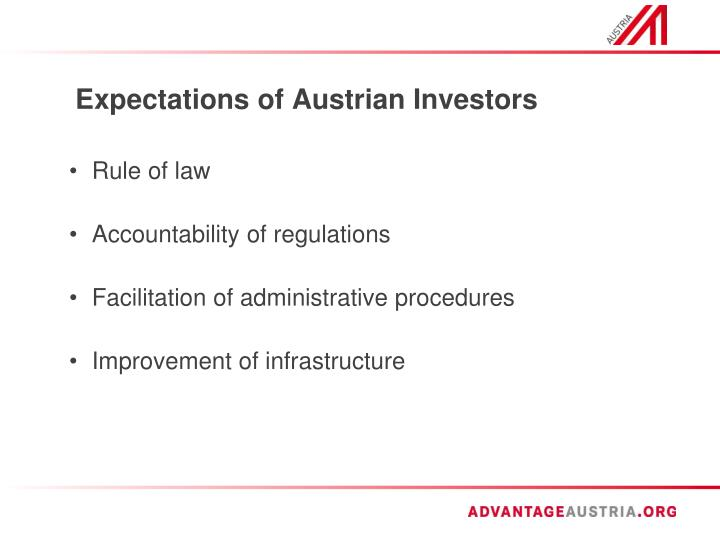 Expectations of austrian investors