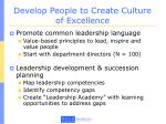 develop people to create culture of excellence