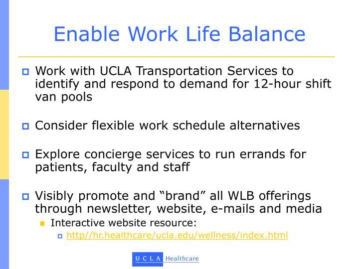 Enable Work Life Balance