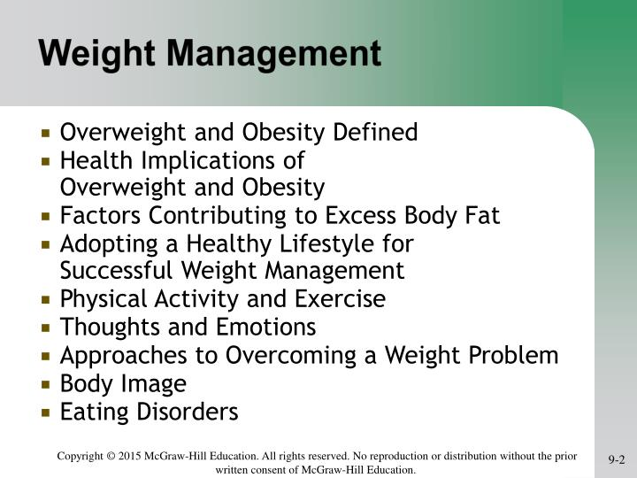 Weight management1