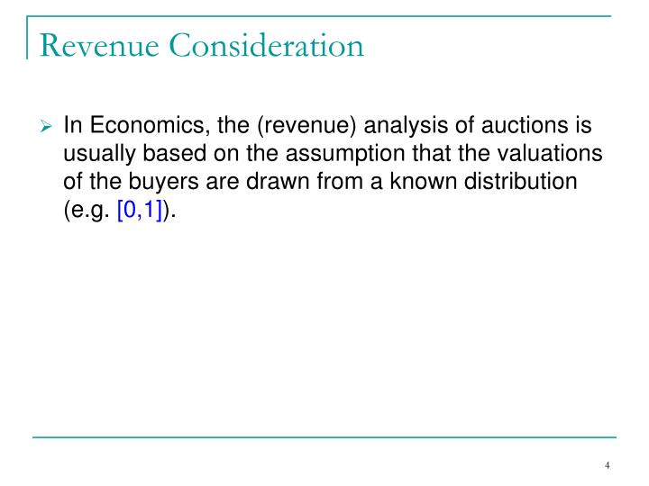 Revenue Consideration