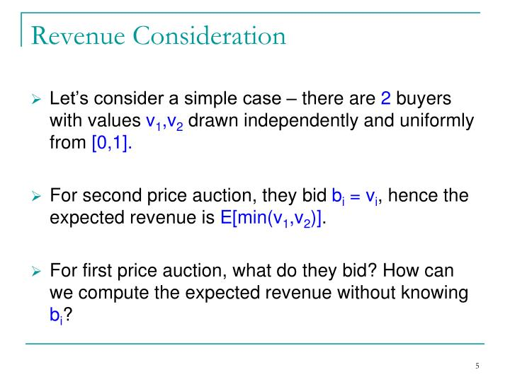 Revenue Consideration
