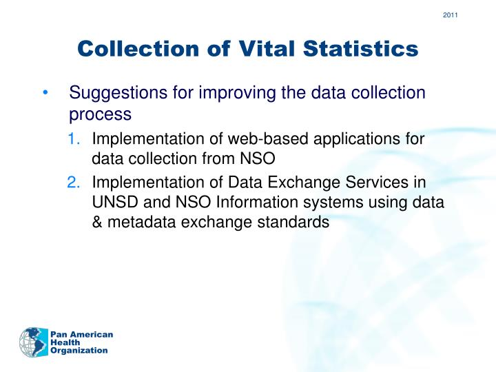 Collection of Vital Statistics