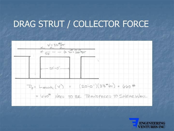 DRAG STRUT / COLLECTOR FORCE