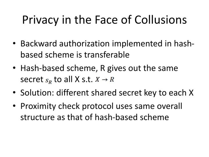 Privacy in the Face of Collusions
