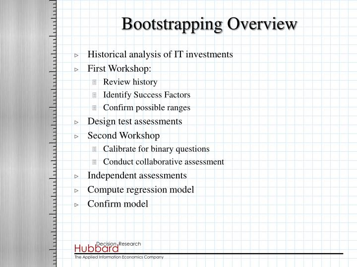 Bootstrapping Overview