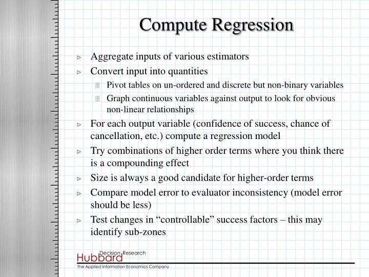 Compute Regression