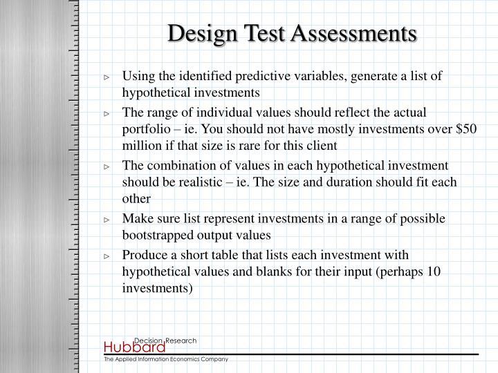 Design Test Assessments