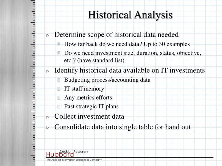Historical Analysis
