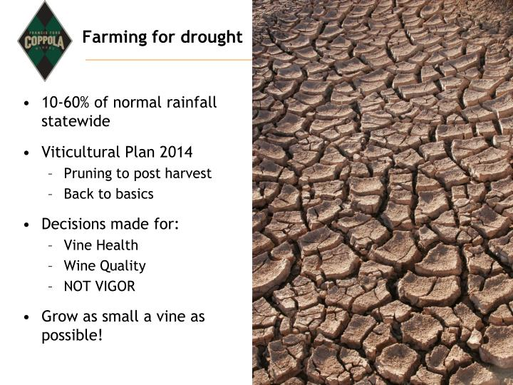 Farming for drought