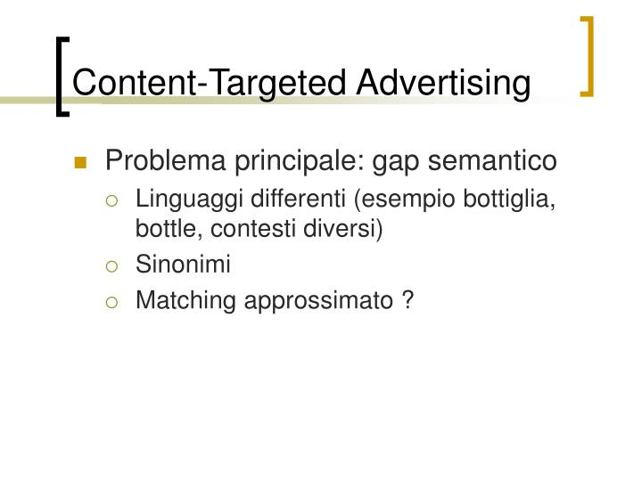 Content-Targeted Advertising