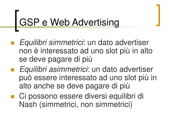 GSP e Web Advertising
