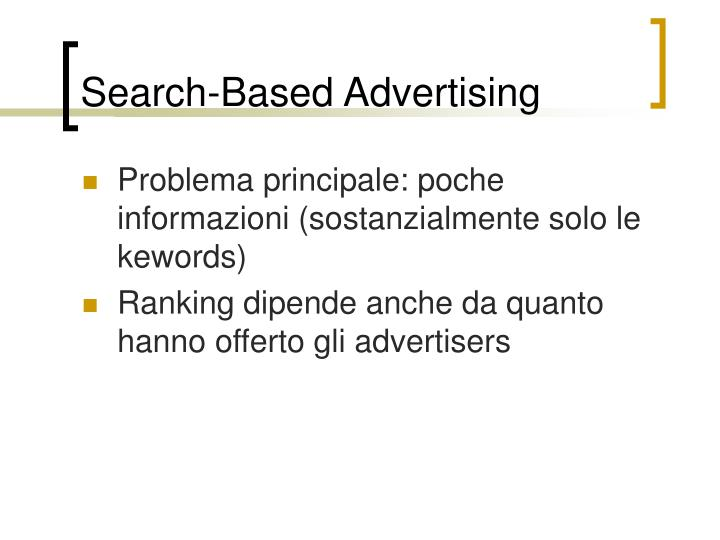 Search-Based Advertising