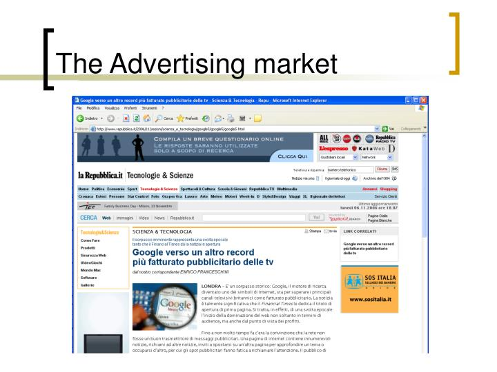 The advertising market1
