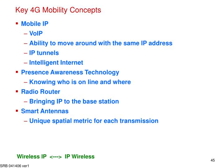 Key 4G Mobility Concepts