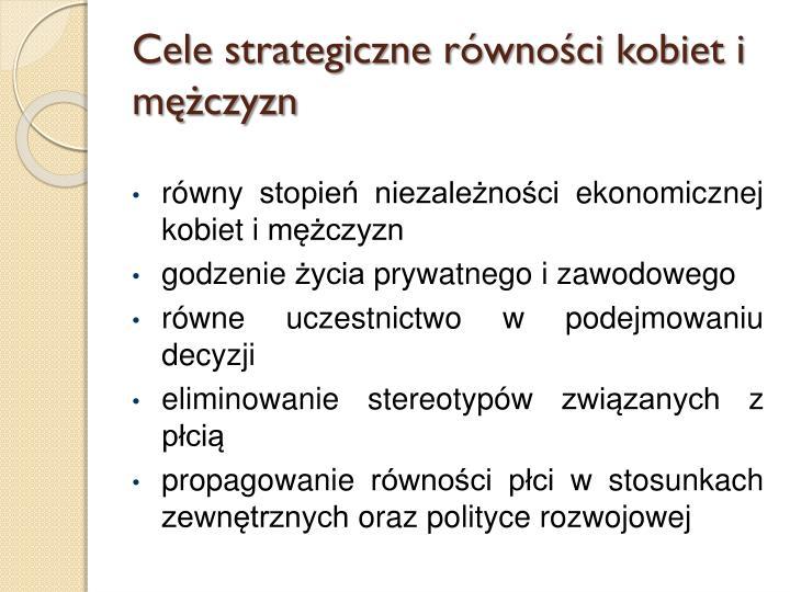 Cele strategiczne równości