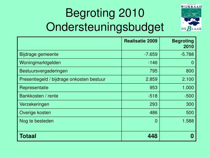 Begroting 2010
