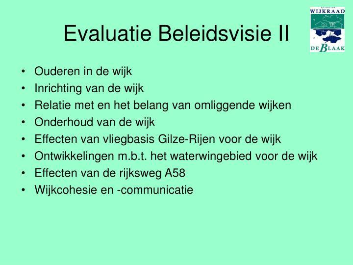Evaluatie Beleidsvisie II