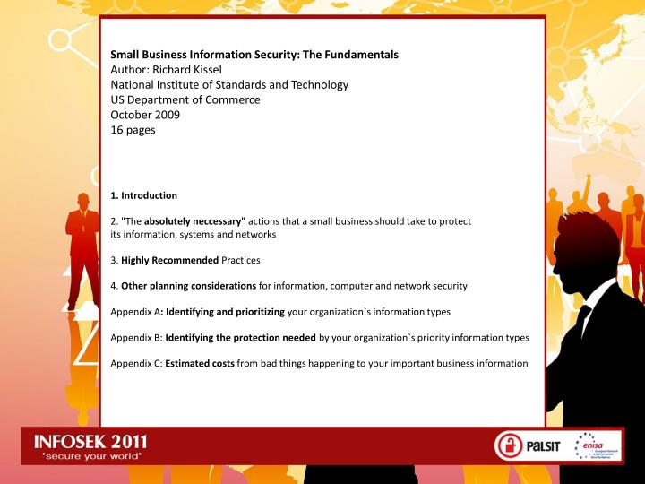 Small Business Information Security: The Fundamentals