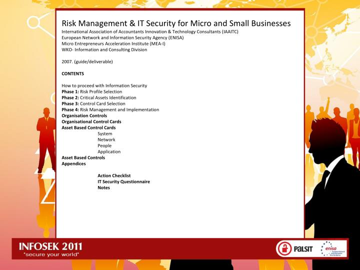 Risk Management & IT Security for Micro and Small Businesses