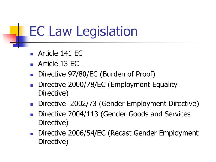 EC Law Legislation