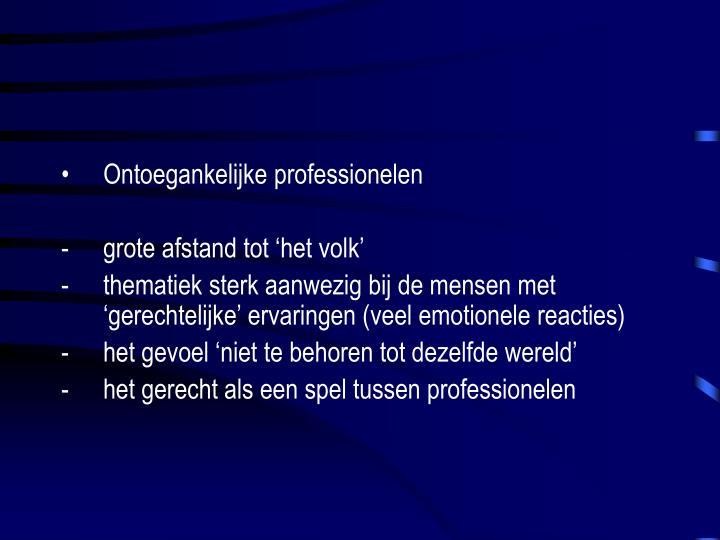 Ontoegankelijke professionelen