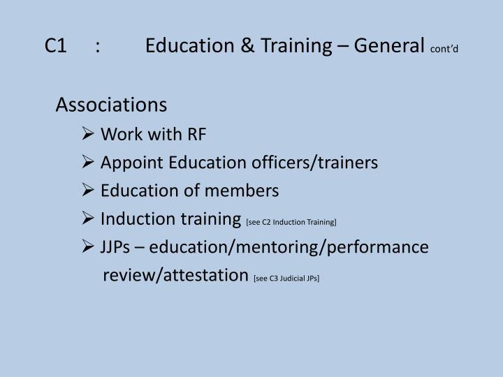 C1:Education & Training – General