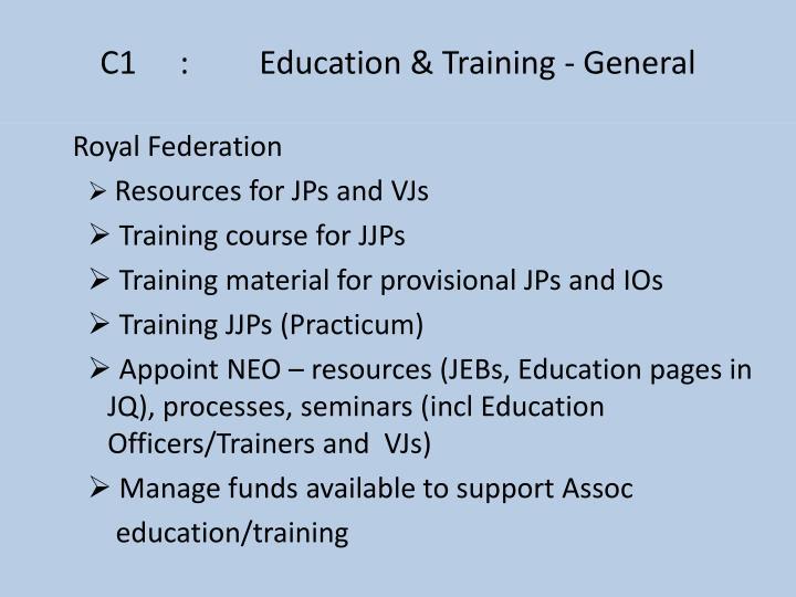 C1:Education & Training - General