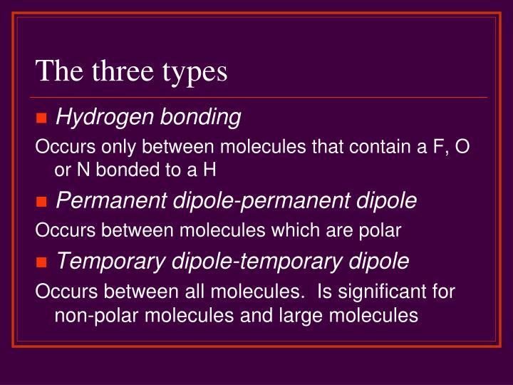 The three types