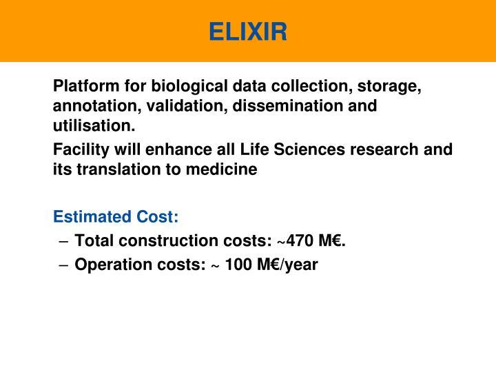 Platform for biological data collection, storage, annotation, validation, dissemination and utilisation.
