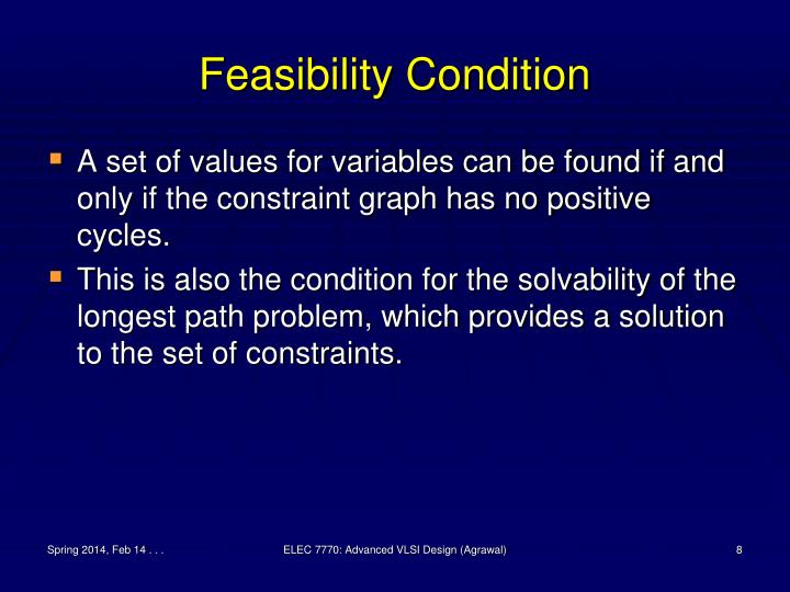 Feasibility Condition