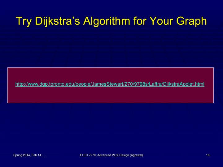 Try Dijkstra's Algorithm for Your Graph