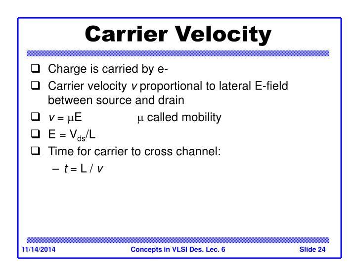 Carrier Velocity