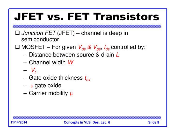 JFET vs. FET Transistors